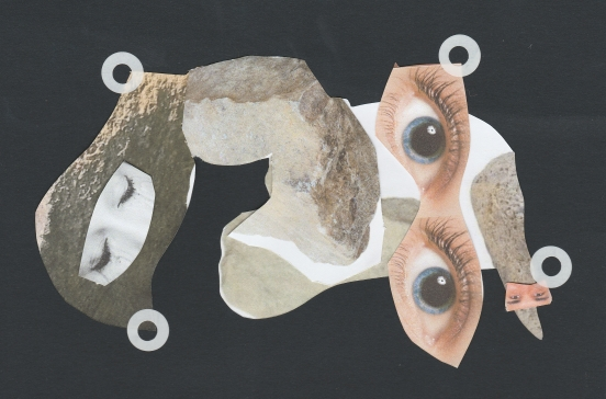 Collage - Eye of the rock face